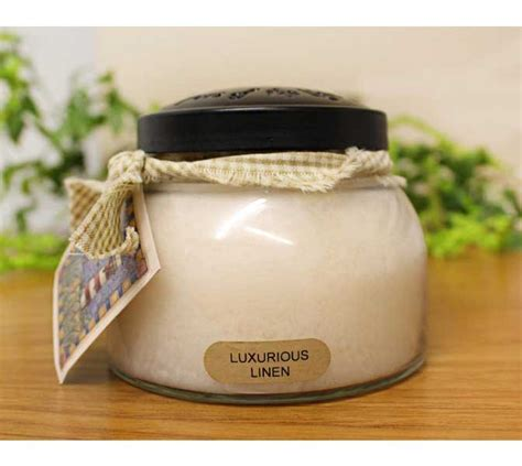 keepers of the light candles luxurious linen keepers of the light jar candle the
