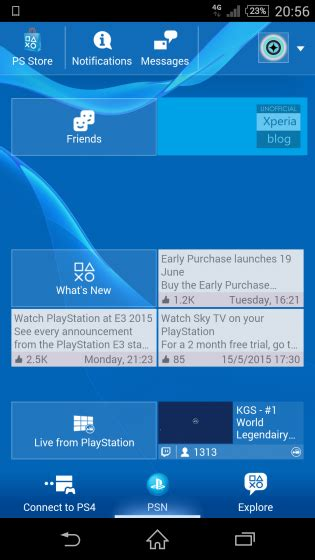 playstation app apk playstation app update 2 55 8 allows ps store to open in app and code redemption xperia