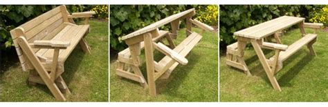 picnic table turns into bench plans picnic table bench combo woodworking projects plans