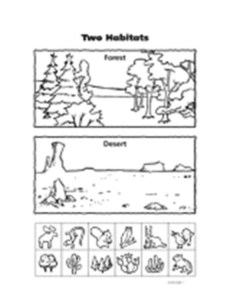printable animal homes worksheet two habitats animal habitats biomes and worksheets