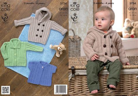 knitting pattern hooded sweater toddler king cole baby aran knitting pattern kids hooded coat