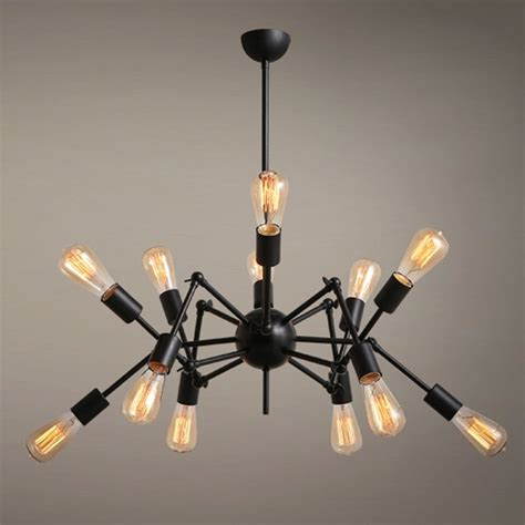 Spider Lights by Industrial Spider 12 Lights Ceiling Chandelier Pendant Loft Iron L Fixtures Ebay