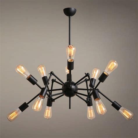 Industrial Spider 12 Lights Ceiling Chandelier Pendant Industrial Style Lighting Fixtures