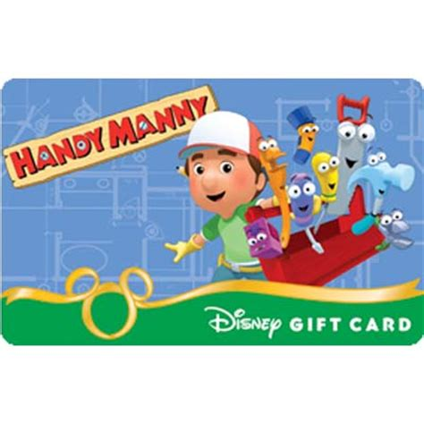 Mannys Gift Card - your wdw store disney collectible gift card handy manny construction zone