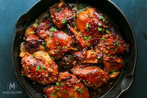 honey soy chicken thighs recipe munchkin time