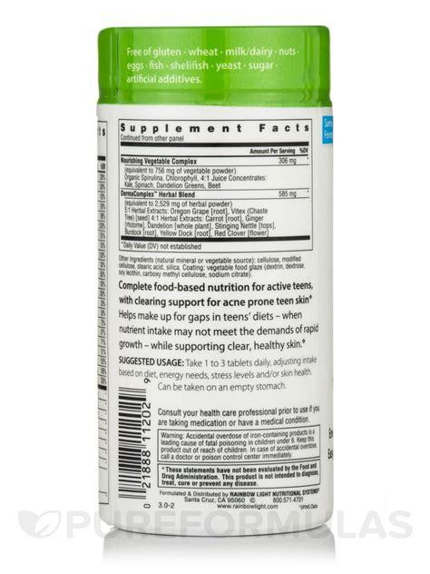 rainbow light active health teen active health teen multivitamin 90 tablets