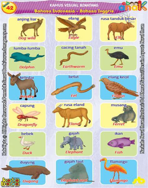 Buku Anak Dongeng Dunia Binatang Dua Bahasa kamus visual binatang dua bahasa indonesia inggris 4 ebook anak
