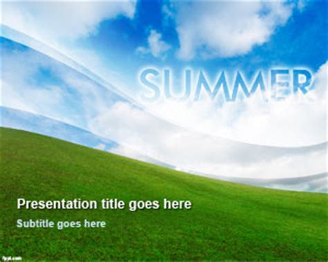 Free Summer Powerpoint Template Summer Powerpoint Templates