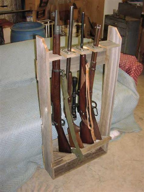 wood vertical gun rack plans    build  easy