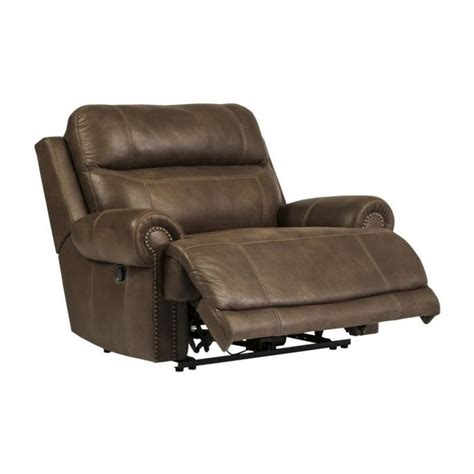 Faux Leather Recliner Austere Faux Leather Zero Wall Recliner In Brown 3840052