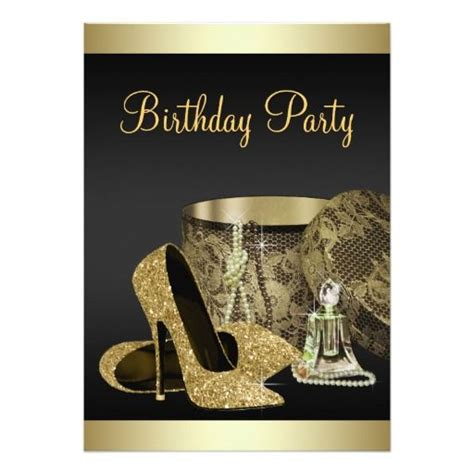 high birthday card template 17 best images about black gold birthday invitations