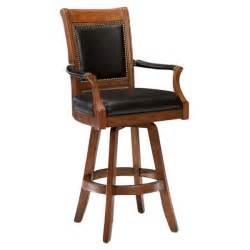 Kingston swivel leather back bar stool dcg stores