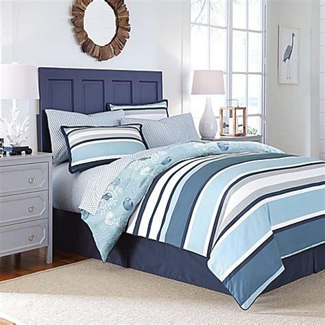 blue striped comforter set cabana stripe reversible comforter set in blue bed bath