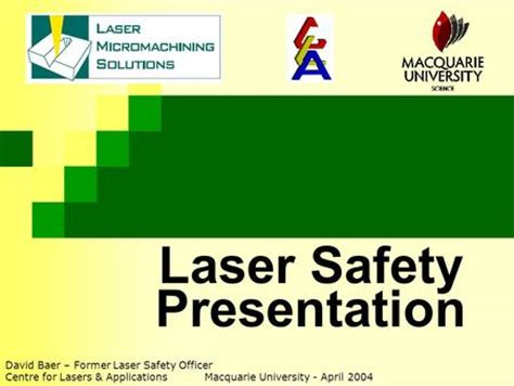 working with lasers deakin ppt