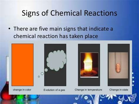 A Place Reaction Chemical Reaction And Equation