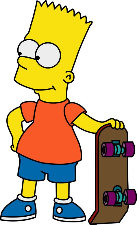 bart simpson bart with his skateboard by mighty355 on deviantart