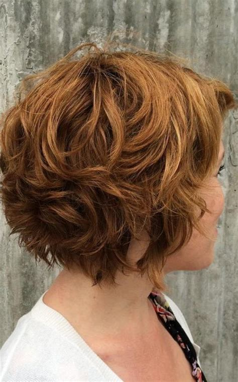 ear length bob wavy curly layered ear length hair styles hairstyles for ear