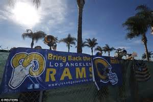 st louis rams move back to la st louis rams to return to los angeles as nfl approves