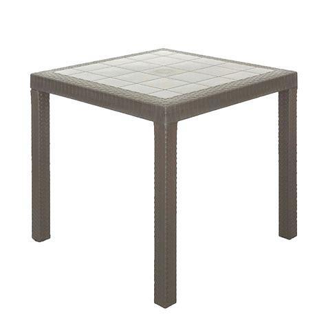tavoli in resina per esterno tavolo quadrato 80x80 tortora modello per esterno design