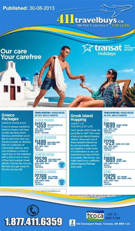 transat holidays greece islands deals  transat save     couple greece