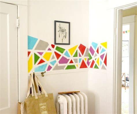 farben wand geometrische formen tolle wandgestaltung mit farbe