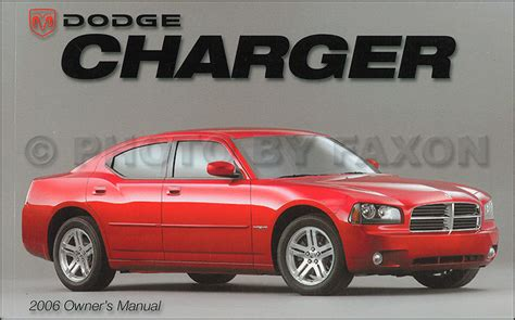 2006 dodge charger owner s manual original