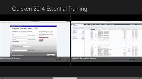 quicken tutorial online learning quicken 2014 manage your money essential