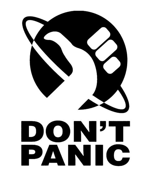 """""""Don't Panic - Hitchhikers Guide"""" Stickers by alwatkins1"""