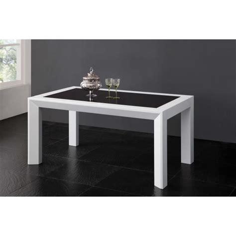 salle a manger noir et blanc table salle 224 manger 160cm blanc et noir achat vente