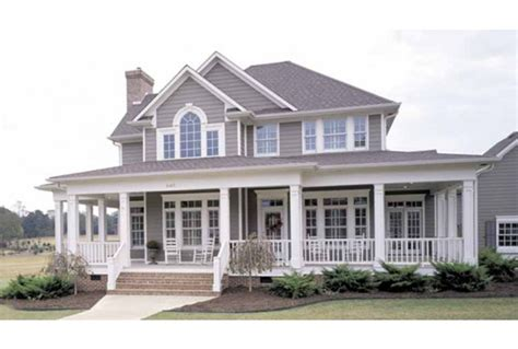 wrap around porch house country farmhouse plans with wrap around porch so