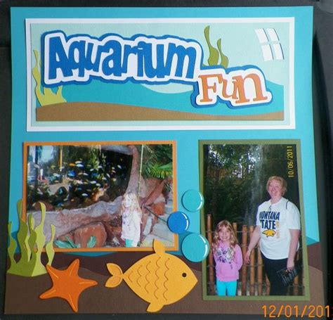 scrapbook layout aquarium 91 best complete outonalimbscrapbooking com layouts images