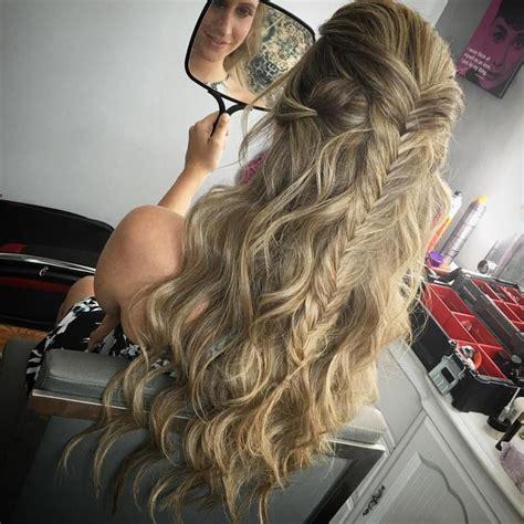 half up n half down hairstyles 31 gorgeous half up half down hairstyles glamour