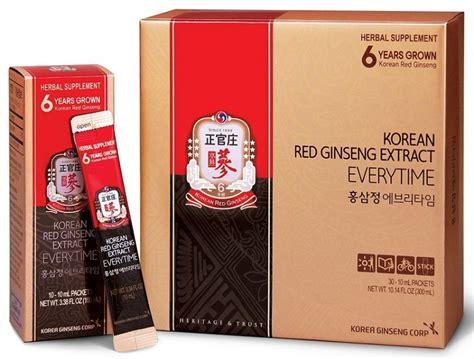 Ginseng Korea korean ginseng extract everytime 30 pouches korean