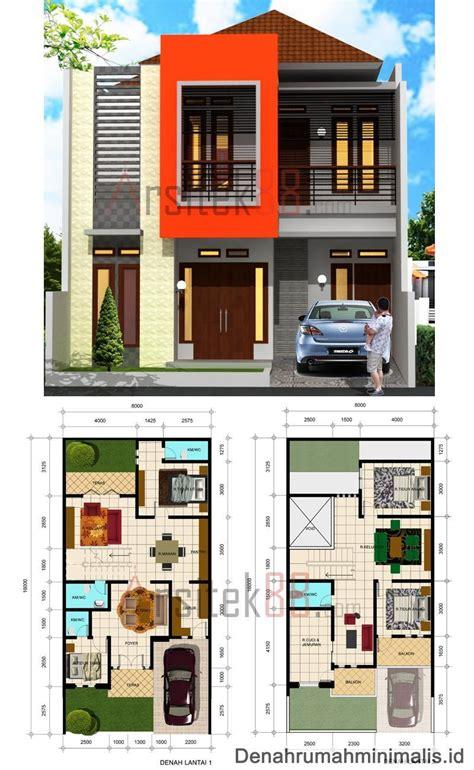 konsep terbaik denah rumah minimalis 2 lantai modern di tahun 2016 denah desain rumah
