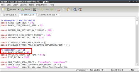 javascript desktop layout linux cinnamon panelgr 246 223 e modifizieren dev blog id10t