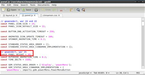 javascript layout panel linux cinnamon panelgr 246 223 e modifizieren dev blog id10t