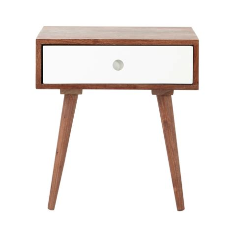 Nachttisch Vintage by Solid Sheesham Wood Vintage Bedside Table With Drawer W