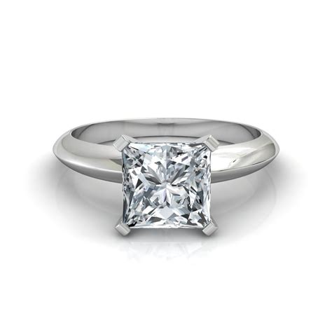 knife edge princess cut solitaire engagement ring