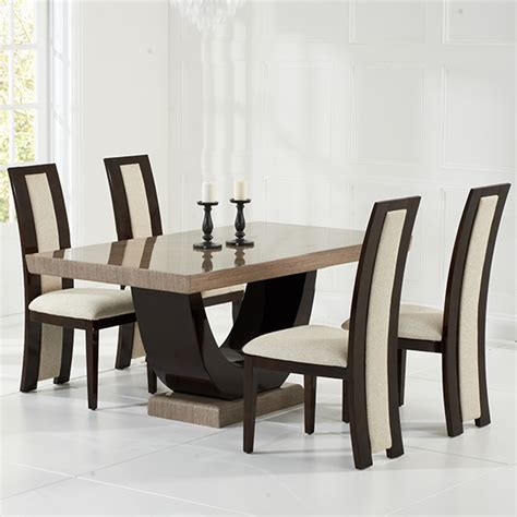 Brown Marble Dining Table Riviera Brown Marble Dining Table Robson Furniture