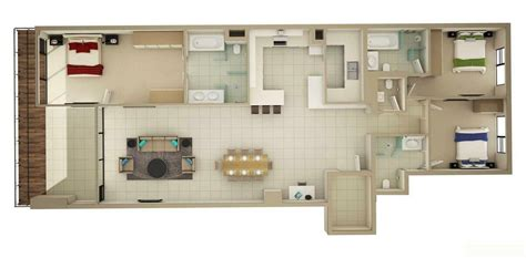 three bedroom apartment floor plans 3 bedroom apartment house plans smiuchin