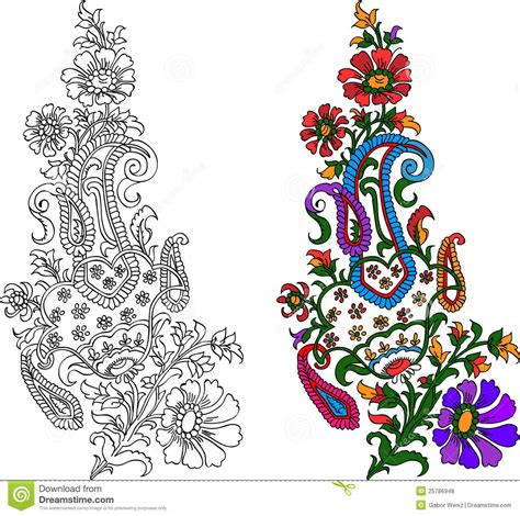 and animal motifs colorful stones applications some designers offer indian textile motif stock vector image of fashion india