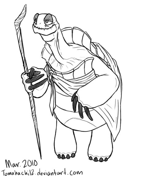 kung fu panda legends of awesomeness coloring pages master oogway by tomahachi12 on deviantart