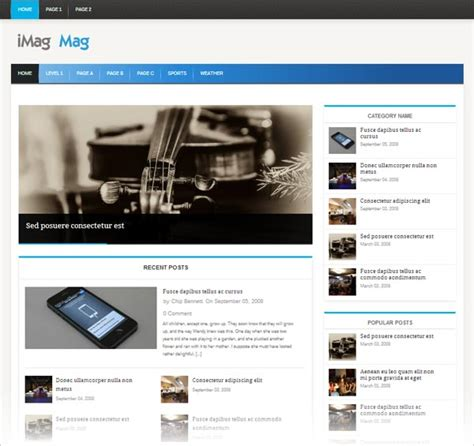 Responsive Themes In Wordpress Free Download | best photos of professional wordpress themes responsive