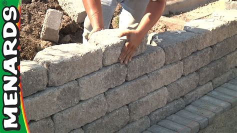 retaining wall   build menards youtube