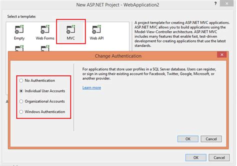 mvc templates for visual studio 2013 choice image