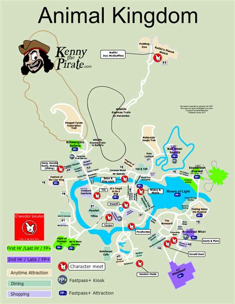 map of animal kingdom animal kingdom map with character locations kennythepirate