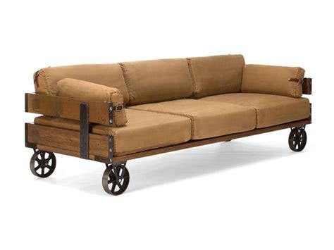 industrial style sofa sofa im industrial design auf retro r 228 dern im jeansstoff