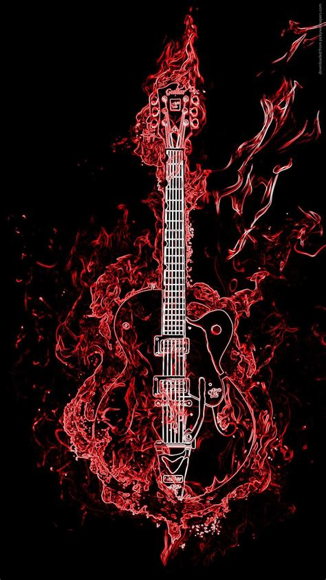 neon guitar wallpaper iphone   iphone wallpaper