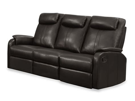 bonded leather reclining sofa 3 colors