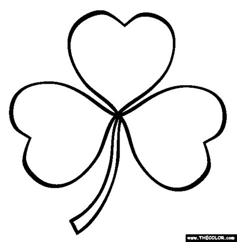 St Patricks Day Online Coloring Pages Page 1 Shamrock Coloring Page